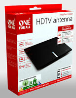 One For All UEBV16472 Amplified Indoor Smart HDTV Antenna, Supports 4K 1080p