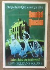 Haunted Mansion Halloween Disneyland Disney Spooky Ghouls Vintage Poster Sign