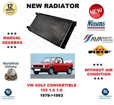 für VW Golf Cabrio 155 1.6 1.8 1979- > 1993 NEU Kühler OE-Qualität