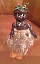 Vintage Black Tin celluloid Wiggler Japan Wind Up dancing doll Toy