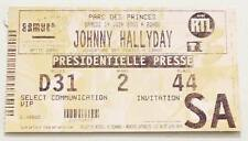 JOHNNY HALLYDAY : rare billet ticket concert FRANCE Paris Parc 14/06/2003 Presse