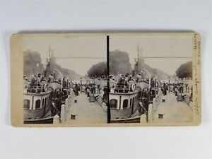 Passenger Ship At Clifton Bridge To Cardiff c1900s Stereoview