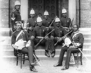 African Colonial Forces Representatives 1900s OLD PHOTO
