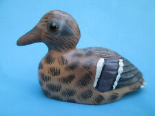 A Beautiful Soap Stone Hand Decorated Duck Ornament