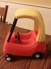 RARE LITTLE TIKES Dollhouse Size Mini COZY COUPE CAR Toy Small Retro Vtg Doll