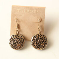 New Talbots Round Flakes Drop Earrings Gift Fashion Women Party Holiday Jewelry