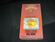 SESAME STREET START TO READ VIDEO BIG BIRD 3 STORIES VHS TAPE RARE