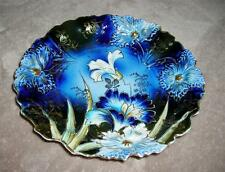 """R.S. PRUSSIA Carnation Cobalt Plate with Gold - Rare- 7 1/2"""" - Excellent to Mint"""