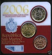Pièces en euro de Saint-Marin année 2006