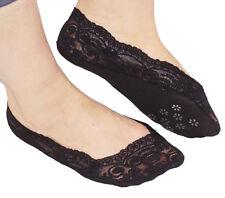Ladies Lace Invisible Socks Ladies Footsie Liner Boat Socks Anti-slip Silicone