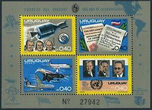 Uruguay C411,C413b,C414b,C413-C414 sheets,MNH. USA-200,1976.Apollo,Concorde,