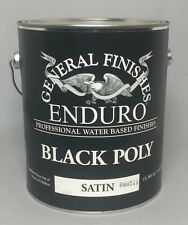 General Finishes Water Based Black Poly Finish - SATIN! 1 Gallon