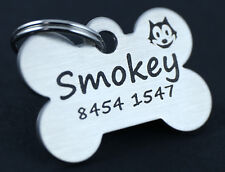 Pet Tag Personalised Laser Engraved St Steel Dog Cat Tag Small Size Double Sided