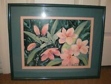 Watercolor Painting By Local Florida Artist Mauline Henderson Flower Floral