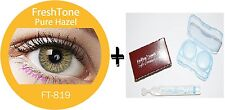 Contact Lenses Colored  FRESHTONE® Pure Hazel + Case + AVIZOR solution 10 ML
