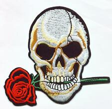 Totenkopf Rose Aufnäher Skull & Rose Patch Death