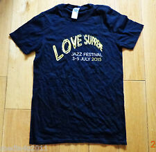 LOVE SUPREME JAZZ FESTIVAL JULY 2015 RARE T SHIRT S NEW VAN MORRISON/CHAKA KHAN