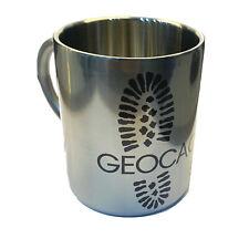 Geocaching Print Stainless Steel Mug - 300ml - Tough Unbreakable Travel Mug