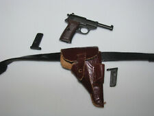 1/6th WW 2 German Army SS Officer Leather Holster, Belt and P38 Pistol w 2 Mags