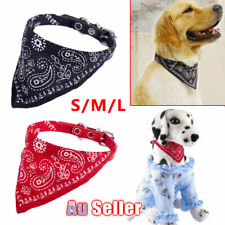 Adjustable Bandana with L Cat leather Collar Pet M Dog Neckerchief Neck Scarf S