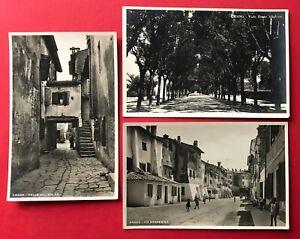 3 x Foto AK GRADO in Italien um 1930 Viale Dante Alighieri, Gradenigo  ( 90119