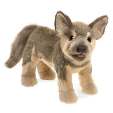 Folkmanis German Shepherd Puppy Hand Puppet Dog Brown Tan Stuffed Animal 3y+ NEW