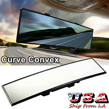 JDM 300mm Wide Curve Interior Clip On Rear View Mirror For Most Car SUV Truck