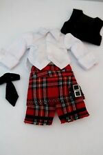 VOLKS YoSD size Scottish Dress Set with Shoes Very Hard to Find and RARE NEW
