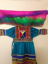 Afghan Traditional Costume Girl's Dress 3pcs, party wear dress