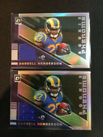 Darrell Henderson 2019 Donruss Optic Jersey Rookie Phenoms  #RP10 LA Rams (2X)