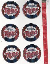 6 baseball logo stickers MLB Minnesota Twins FREE SHIPPING