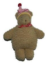 "Bunnies By The Bay Eddie Bauer Plush Teddy Bear Rattle Lovey Toy Hat 7"""