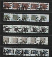 BRD 1934 - 1938 R, 5-er Streifen Rollenmarken tadellos postfrisch  #h884