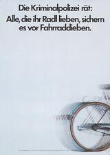 Original Vintage Poster Bicycle German Safety Bike Radl