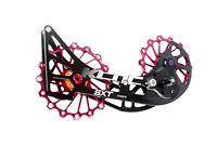 KCNC SXT Chape Galets Oversized Vélo VTT OPWS pour Shimano Deore XT M8000 Rouge