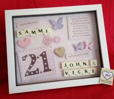 21st BIRTHDAY PERSONALISED GIFT FRAME PICTURE PHOTO KEEPSAKE PRESENT