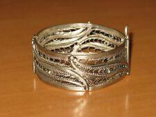 Moroccan silver bracelet-Moroccan berber ethnic tribal filigree silver bracelet