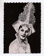 PHOTO ANCIENNE Costume régional Coiffe Femme SablaisLes Sables d'Olonne