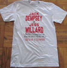 JACK DEMPSEY vs JESS WILLARD small tee 1919 throwback Toledo boxing Tshirt retro