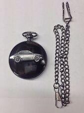 Suzuki GX ref244 emblem polished black case mens pocket watch