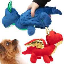 Dragon Dog Toy Plush Soft Squeaker Crinkle Sound Safe Comforting Dog Toys