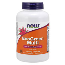 NOW FOODS EcoGreen Multi (Iron Free) Senza Ferro 180 vcaps - VITAMINE
