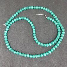 Emerald Green Round Cat's Eye Glass Beads 4mm, 16 Inch Strand