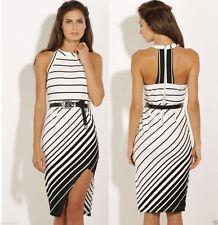 Polyester Stripes Sheath Dresses for Women