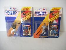 Two 1992 Ken Griffey Jr Vintage Starting Lineup SLU Figure, With Card and Poster