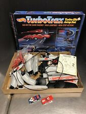 Hot Wheels Vintage 1986 TurboTrax Glo Jump Set Complete With Box EM4175