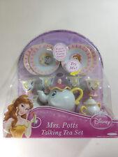 Vintage Disney Beauty And The Beast Toy Talking Tea Set Mrs. Potts Chip Belle