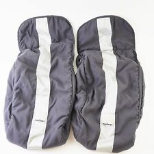 MACLAREN Charcoal Silver Foot Muffs - Twin Double Stroller Foot Boot - SET OF 2