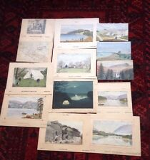 Antique Water Colours Yorkshire And The lakes Grand Tour 1987