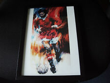 GEORGE BEST - MANCHESTER UNITED - FRAMED COLOUR PRINT - NEW